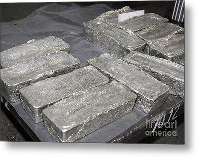 Palladium Bars Metal Print