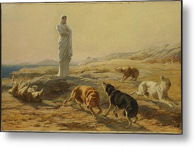 Pallas Athena And The Herdsmans Dogs Metal Print