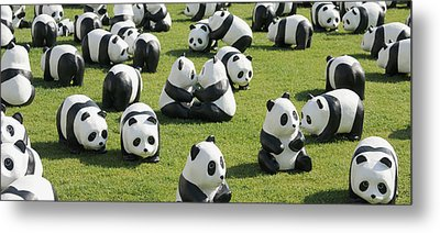 Paper Made Pandas From World Wildlife Metal Print by Panoramic Images