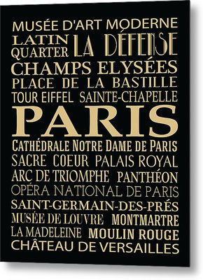Paris Attractions Metal Print by Jaime Friedman