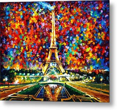 Paris Of My Dreams Metal Print by Leonid Afremov