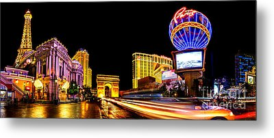 Paris On The Strip Metal Print