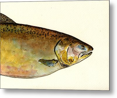1 Part Chinook King Salmon Metal Print by Juan  Bosco