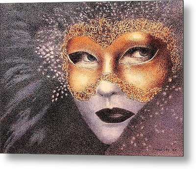 Party Face Metal Print by Tony Ruggiero