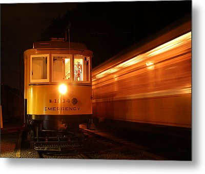 Passing In The Night Metal Print by Jim Poulos