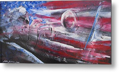 Metal Print featuring the painting Passionate Sound by John  Svenson