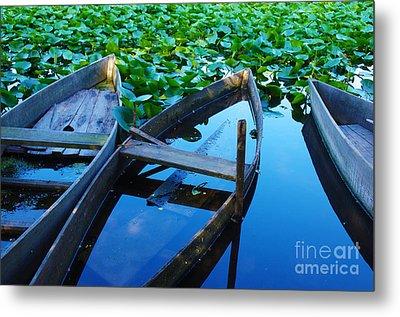 Pateira Boats Metal Print by Carlos Caetano
