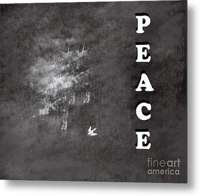 Peace Metal Print by Trilby Cole