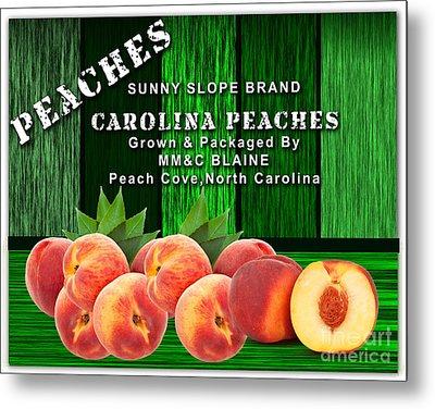 Peach Farm Metal Print