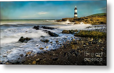 Penmon Lighthouse Metal Print by Adrian Evans