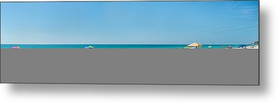 People On The Beach, Venice Beach, Gulf Metal Print by Panoramic Images