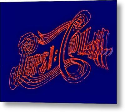 Pepsi Cola Metal Print by Susan Candelario