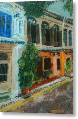 Metal Print featuring the painting Peranakan House by Belinda Low