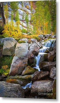 Perfection Lakes Falls Metal Print by Inge Johnsson