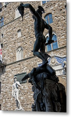 Perseus By Cellini Metal Print by Melany Sarafis