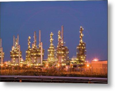 Petrochemical Works On Teesside Metal Print