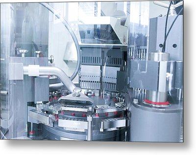 Pharmaceutical Machinery Metal Print by Gombert, Sigrid