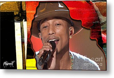 Pharrell Williams Metal Print by Marvin Blaine