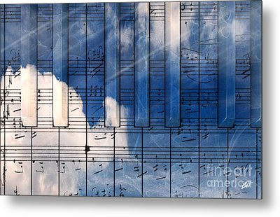 Piano Metal Print by Bruno Haver