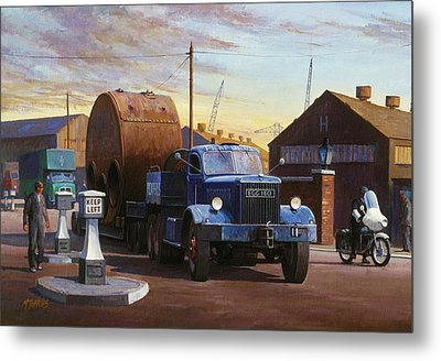 Pickfords Diamond T Metal Print by Mike  Jeffries