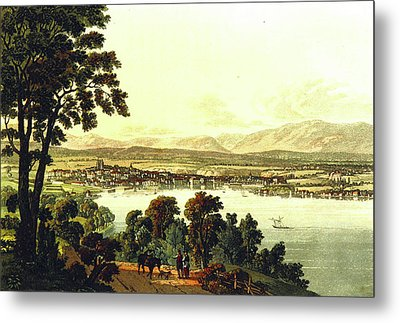 Picturesque Tour From Geneva To Milan Metal Print by Litz Collection