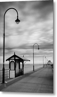 Pier Into The Past Metal Print by Shari Mattox