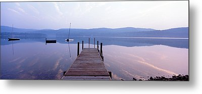 Pier, Pleasant Lake, New Hampshire, Usa Metal Print by Panoramic Images