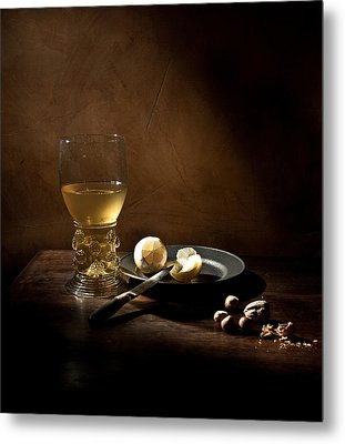 Metal Print featuring the photograph Pieter Claesz - Still Life With A Large Roemer by Levin Rodriguez