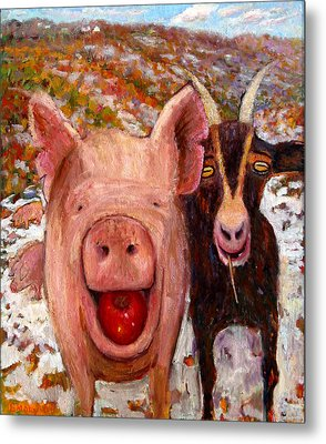 Pig And Goat Metal Print