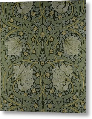 Pimpernel Wallpaper Design Metal Print by William Morris