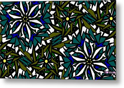 Pin-wheel Flowers Metal Print
