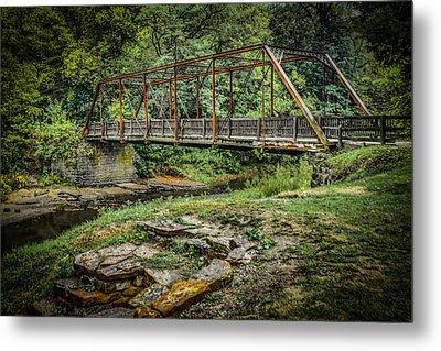 Pine Creek Bridge Metal Print by Ray Congrove