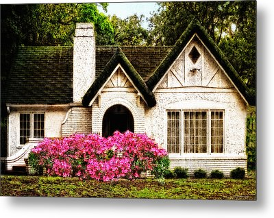 Pink Azaleas - Old Southern Charm By Sharon Cummings Metal Print