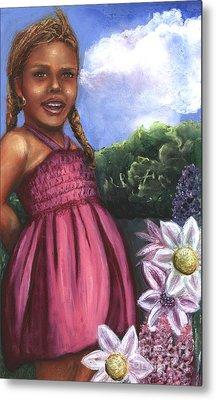 Pink Dress Metal Print by Alga Washington
