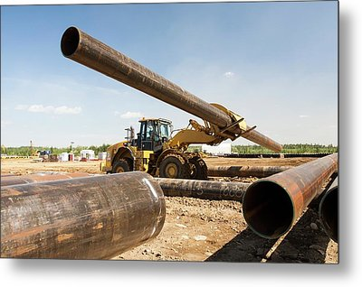 Pipeline Construction Metal Print