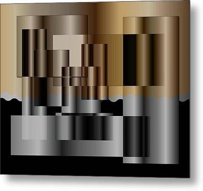 Metal Print featuring the digital art Pipes by Iris Gelbart