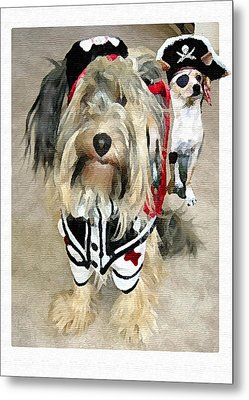 Pirate Dogs Metal Print by Jane Schnetlage