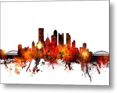 Pittsburgh Pennsylvania Skyline Metal Print by Michael Tompsett
