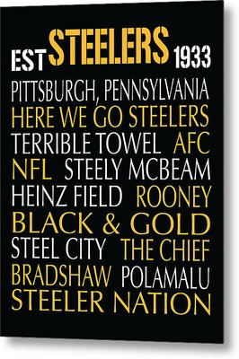Pittsburgh Steelers Metal Print by Jaime Friedman