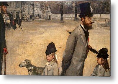 Place De La Concorde Metal Print by Edgar Degas