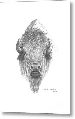 Plains Buffalo Metal Print