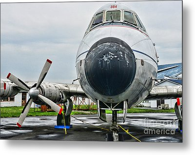 Plane Noses Up Metal Print by Paul Ward