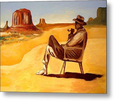 Poet In The Desert Metal Print