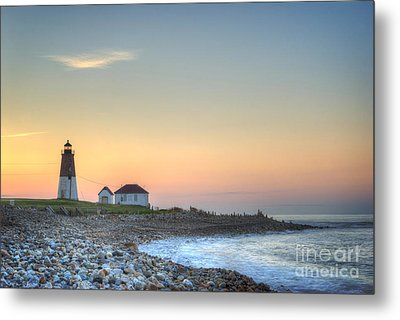 Point Judith Lighthouse Metal Print by Juli Scalzi