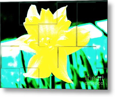 Pop Yellow Metal Print by Arlene Carmel