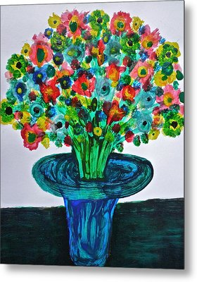 Poppies And Wildflowers Metal Print by Gregory Young