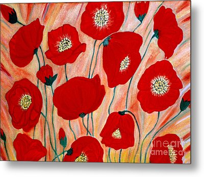Poppies. Inspirations Collection. Metal Print