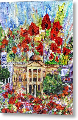 Poppy Days Are Here Again Metal Print by GretchenArt FineArt
