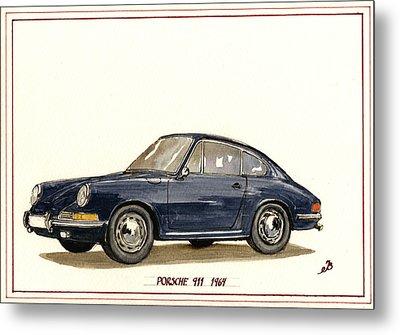 Porsche 911 Classic Metal Print by Juan  Bosco