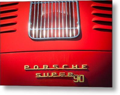 Porsche Super 90 Tail Emblem Metal Print by Jill Reger